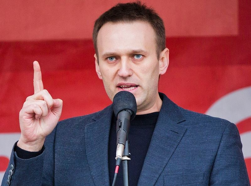 俄羅斯總統蒲亭將在18日的總統大選中成功連任,不過反對派提出做票和其他選舉舞弊的指控。圖為反對派領袖納瓦尼。(圖取自維基共享資源,作者EvgenyFeldman/NovayaGazeta,CCBY-SA3.0)