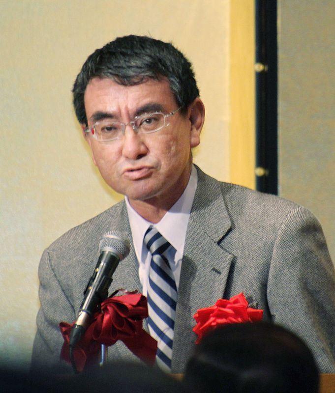 日本外務大臣河野太郎31日在高知市發表演說指出,北韓似乎「正為下一輪核子試爆拚命準備」。(共同社提供)