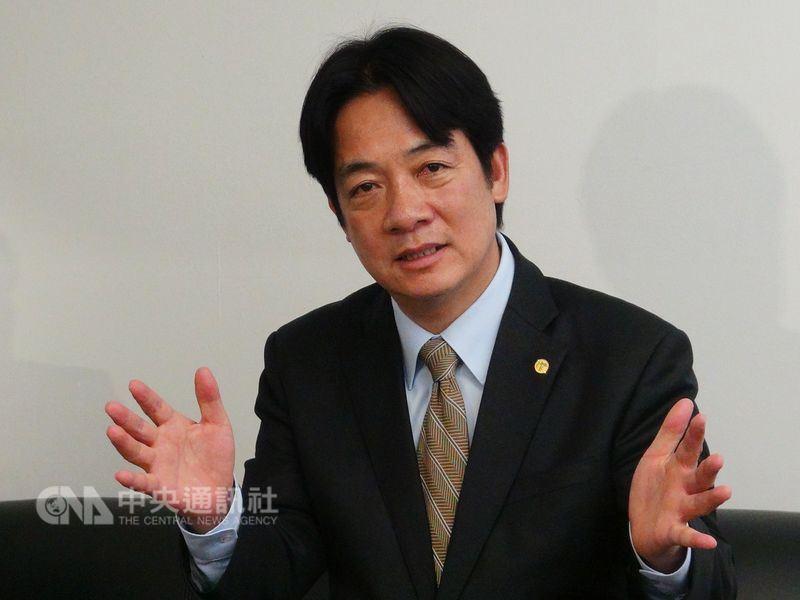 行政院長賴清德15日表示,教育是台灣產業轉型後盾,教育部長任重道遠,新任教長人選的條件,不是解決台大校長遴選案。(中央社檔案照片)