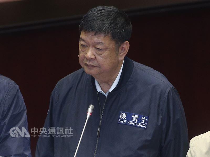 圖為國民黨立委陳雪生。(中央社檔案照片)