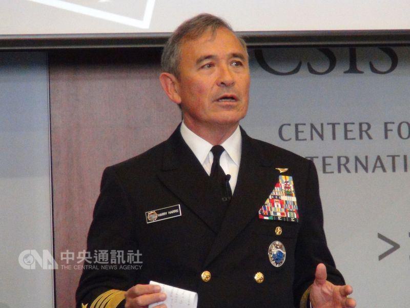 兩名美國高階政府官員24日表示,川普政府打算提名美軍太平洋司令部司令哈里斯(圖)為駐南韓大使。(中央社檔案照片)