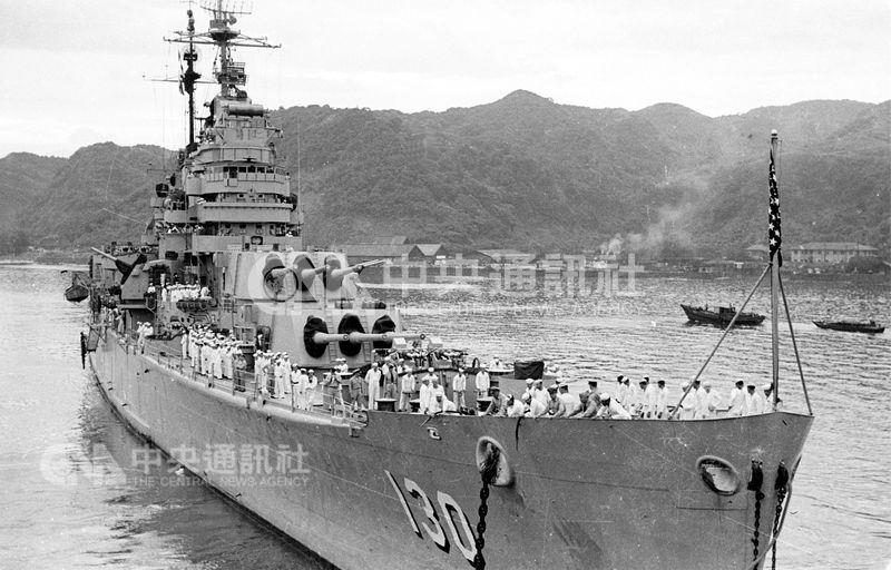 韓戰爆發時,美國曾派第七艦隊巡弋台灣海峽,以防範中共侵台,台灣因此免受赤化,轉危為安。(中央社檔案照片)