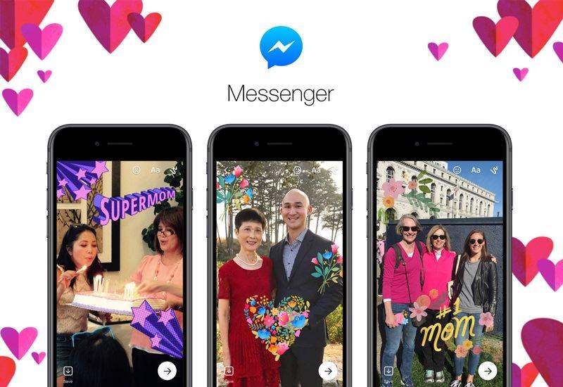 隨著母親節將至,Facebook和Messenger也推出許多新的方式,讓人們表達對母親的感謝。(圖取自臉書網頁newsroom.fb.com)