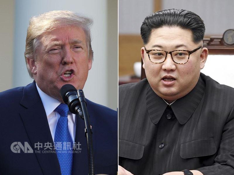 川普(左)與金正恩(右)6月12日將在新加坡會面。(圖左為中央社檔案照片;右為兩韓峰會共同採訪團提供)