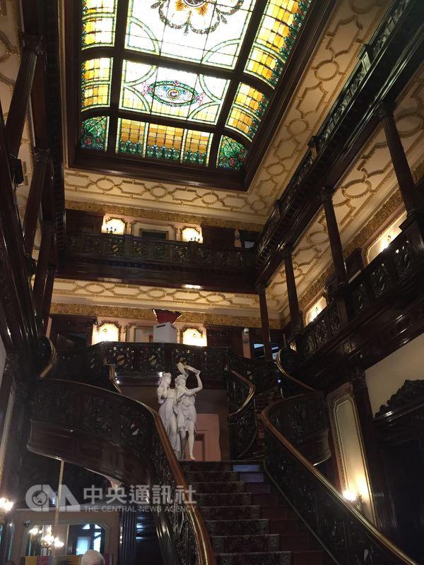 建於1903年的印尼大使館據說是愛爾蘭移民華爾希為獨生女伊芙琳興建,落成時是當時華府市值最高的建築。中央社記者江今葉華盛頓攝107年5月16日