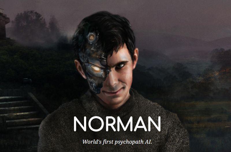 美國麻省理工學院一組研究團隊製造出首個宛如患有神經病的AI,名為諾曼。(圖取自norman-ai網頁norman-ai.mit.edu)