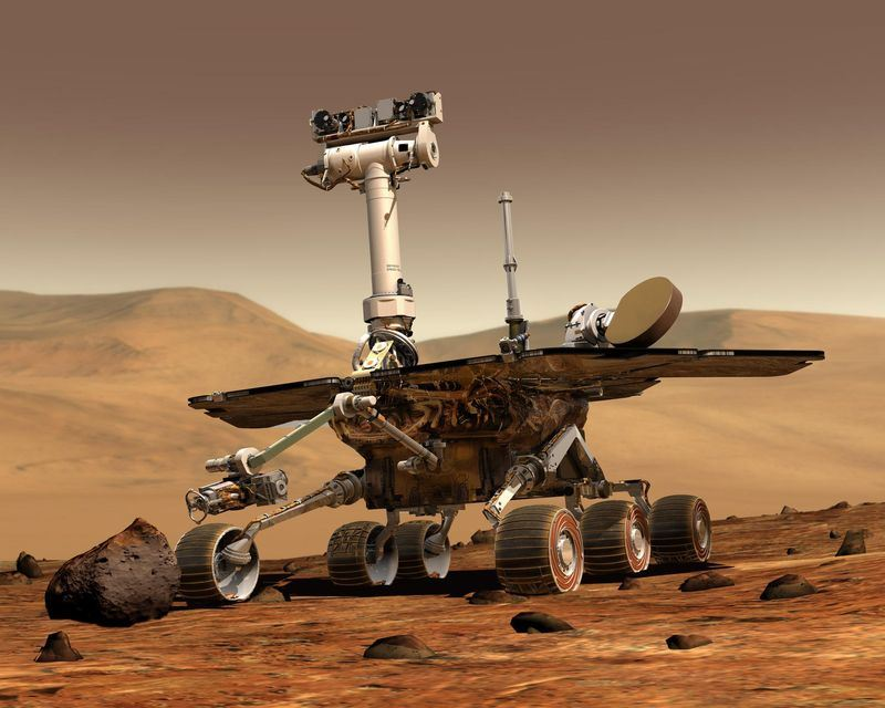 美國航空暨太空總署表示,大規模沙塵暴席捲火星,NASA無人駕駛的太陽能探測車「機會號」也抵擋不住進入休眠狀態。(圖取自MarsExplorationRovers臉書www.facebook.com/mars.rovers)