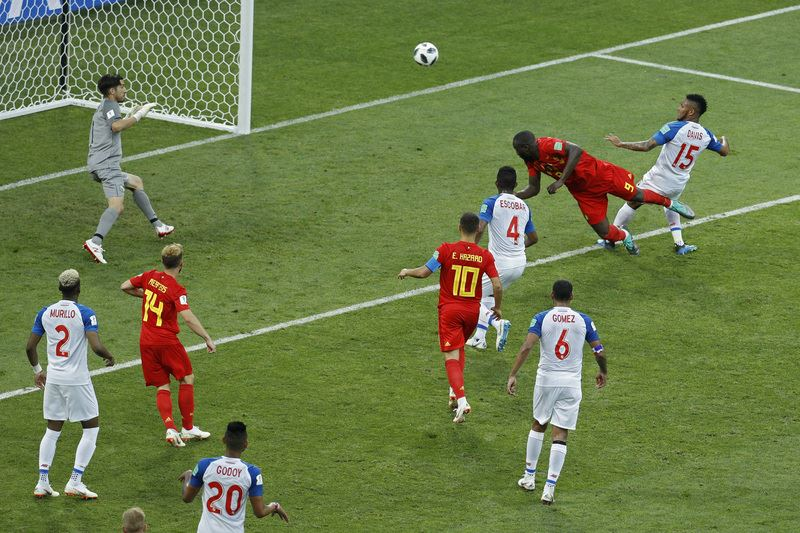 比利時19日靠著前鋒盧卡庫包辦2球,加上梅丹斯的遠射,終場以3比0大勝巴拿馬。(達志提供)