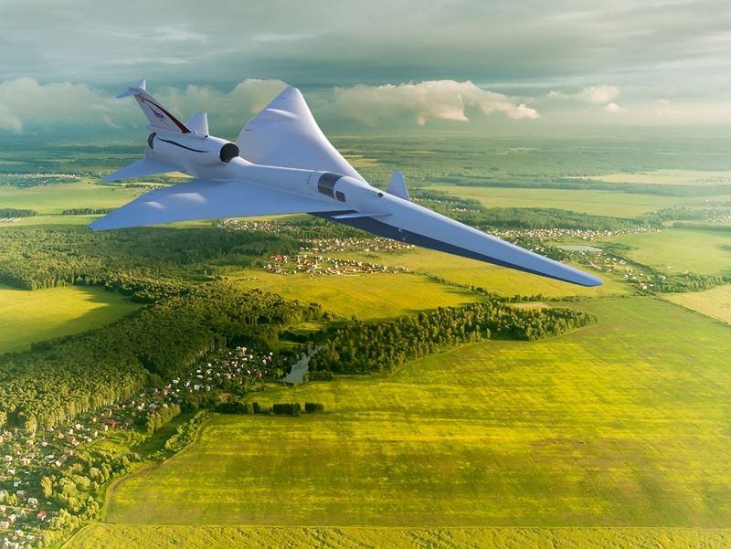 美國國家航空暨太空總署(NASA)打造超音速飛機,名為X-59 QueSST實驗計畫。(圖取自NASA網頁www.nasa.gov)