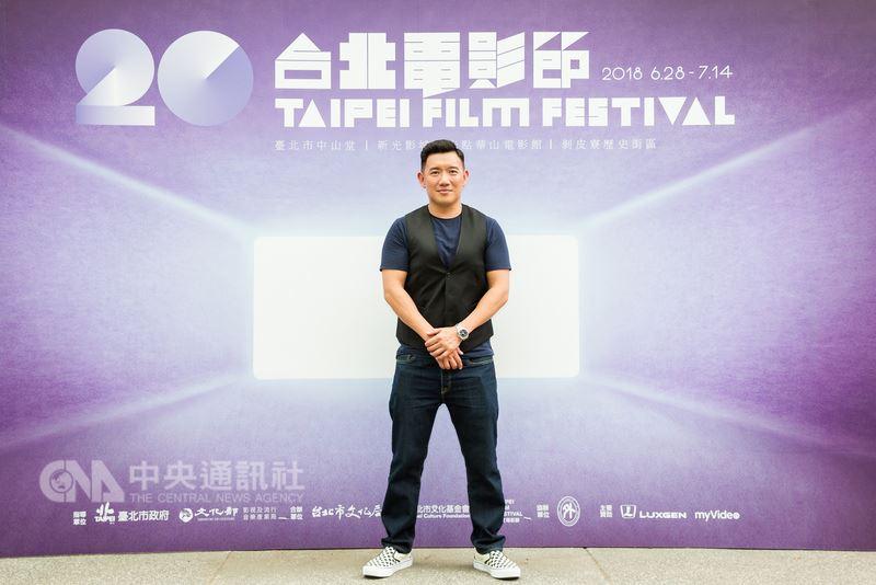 香港知名影星杜汶澤今年受邀擔任台北電影獎評審團,7日在台北出席記者會,笑說這輩子沒試過一年內看這麼多部電影,但看到很多新導演天馬行空的作品,認為很有學習價值。(台北電影節提供)中央社記者江佩凌傳真 107年7月7日