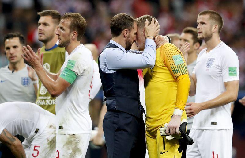 「三獅軍團」英格蘭12日在世界盃4強賽1比2不敵克羅埃西亞。(達志提供)
