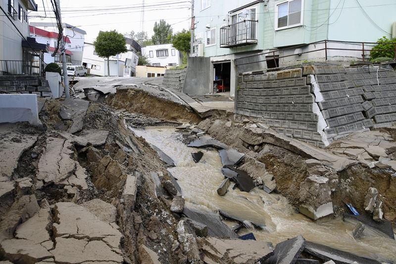 日本北海道發生規模6.7地震,最大震度6強。(共同社提供)