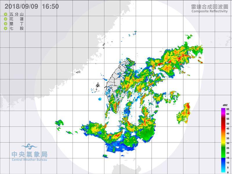 中央氣象局9日下午發布熱帶性低氣壓特報,預計10日起將為東南部帶來降雨。(圖取自中央氣象局網頁www.cwb.gov.tw)
